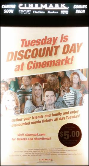 Cinemark $5 Movies every Tuesday!