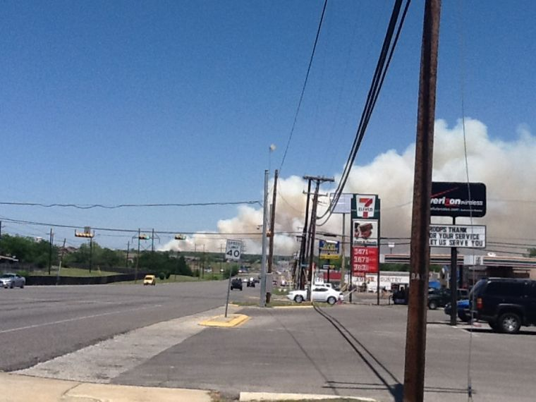 500 acre fire on Fort Hood