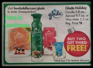 Family Dollar Buy Two Get One FREE Glade Products