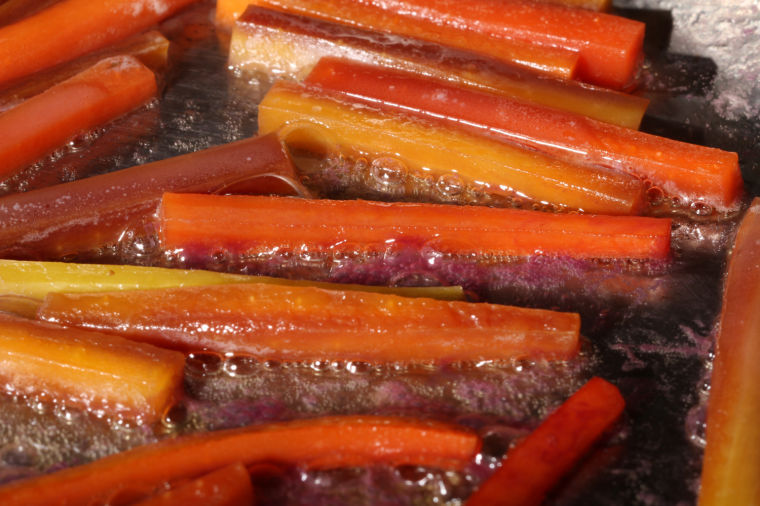 Glazed vegetables