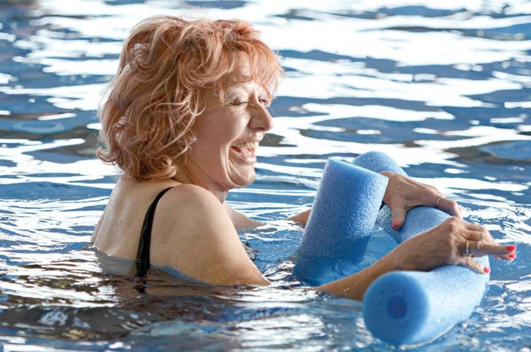 Women find time for water fitness