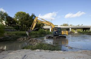 Water rerouted, fish moved as Nolan Creek project begins