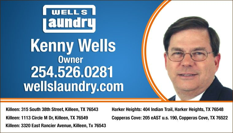 Kenny Wells Killeen TX 254 526-0281 Wells Laundry