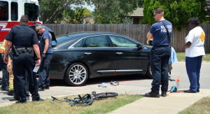 Bike and auto accident