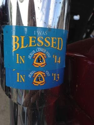 Motorcycle blessing