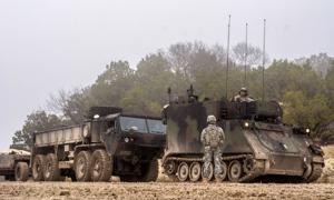 41st Brigade MRLS Live Fire
