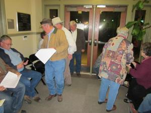 Crowd at the Lampasas County elections