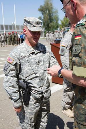Sgt. Joshua Babcock earns badge