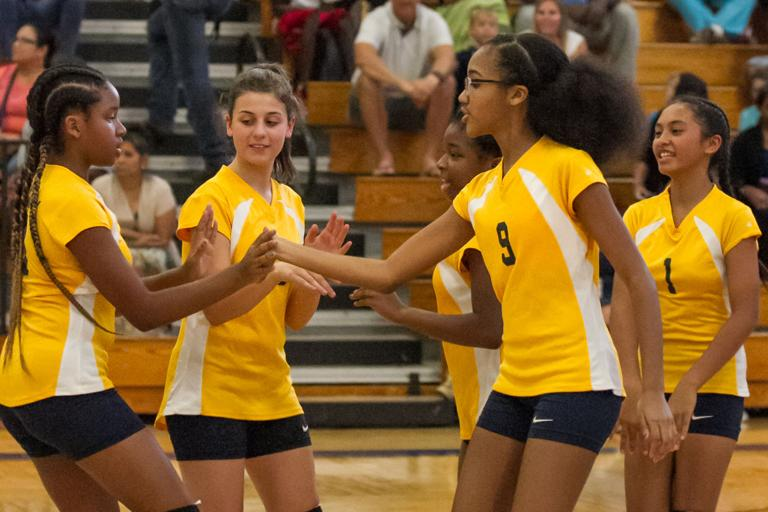 FUTURE STARS: Johnson, Pons lead UGMS to opening win in volleyball