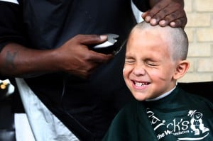 Head-Shaving Event for Cancer Awareness