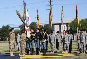 1st Cavalry uncases colors