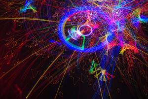 Planetarium laser show