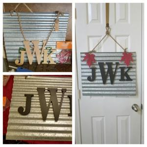 Add personal touch to fall wall, door decor