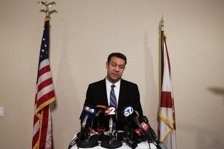 Trey Radel address media after guilty plea