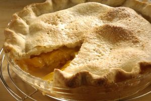 Peach almond pie