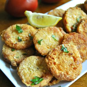 <p>Fried Red Tomatoes. (Gretchen McKay/Pittsburgh Post-Gazette/TNS)</p>
