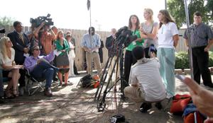 Victims' families give statements