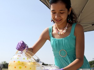 Children build business skills with lemonade
