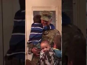 Fort Hood soldier surprises sons after return from deployment
