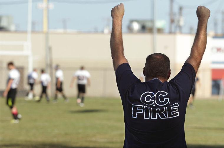 Police/firefighter soccer