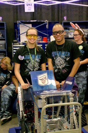 Shoemaker team participates in robotics competition