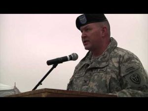 504th BfSB cases colors for deployment to Kosovo