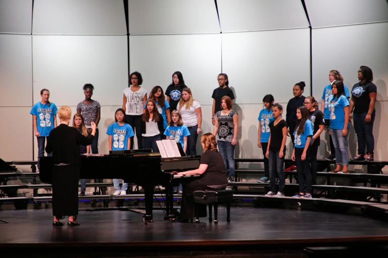 S.C. Lee JHS choirs perform at fall concert