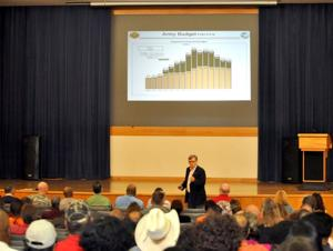 Fort Hood garrison town hall meeting