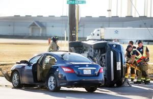 Crash rolls vehicle over at Killeen intersection