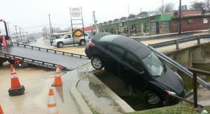 Icy roads in Killeen