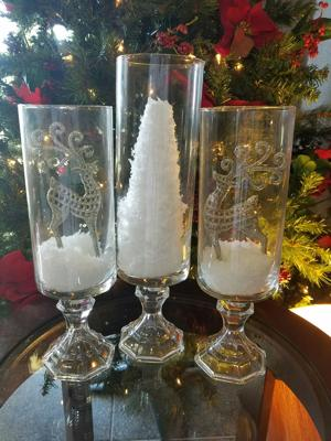 Vases, candlestick holders make easy Christmas decorations
