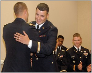 Retired first sergeant's sons serving in the military as officers