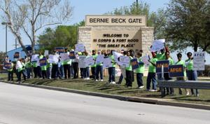 Protest at Fort Hood