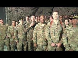 President Trump Talks to Troops in Afghanistan