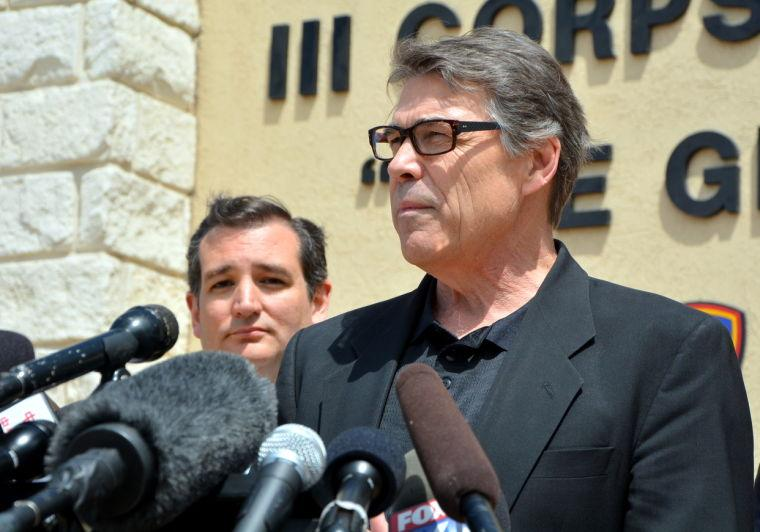 Ft Hood Press Conference Gov. Rick Perry and Sen. Ted Cruz