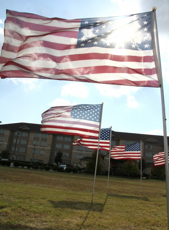 Flags Placed at Future Nov. 5 Memorial Site