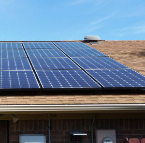 Solar Panels: A local homeowner purchased these solar panels which were installed on the back, southern exposure of their roof. - Courtesy photo