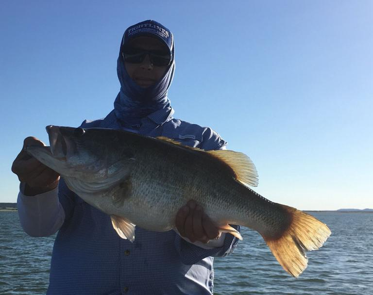 Who says you can't catch a big bass in flood water conditions?