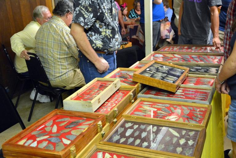 Indian artifacts on display during 20th annual show