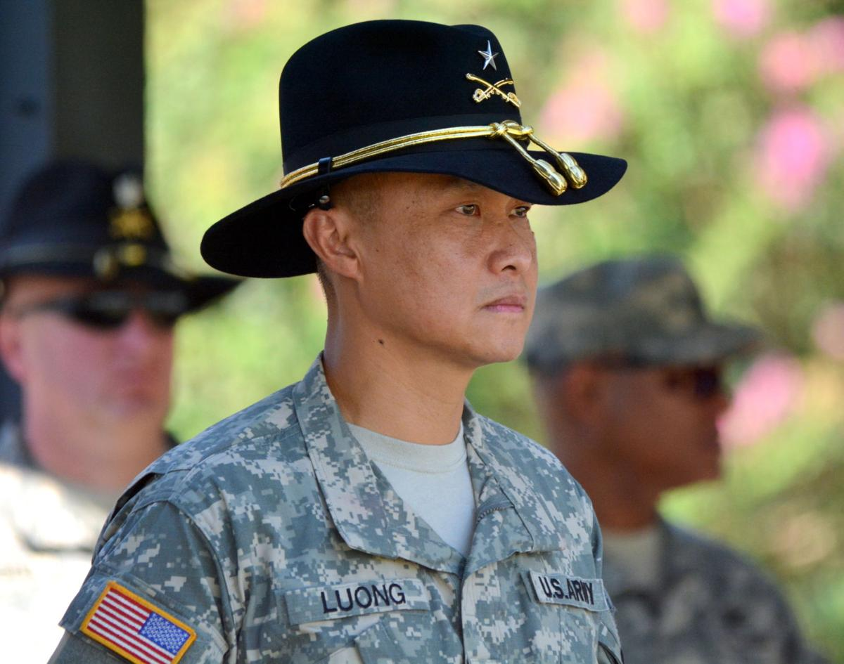 Brigadier General Viet Luong, 1st Cavalry Division deputy commanding general for maneuver promotion ceremony