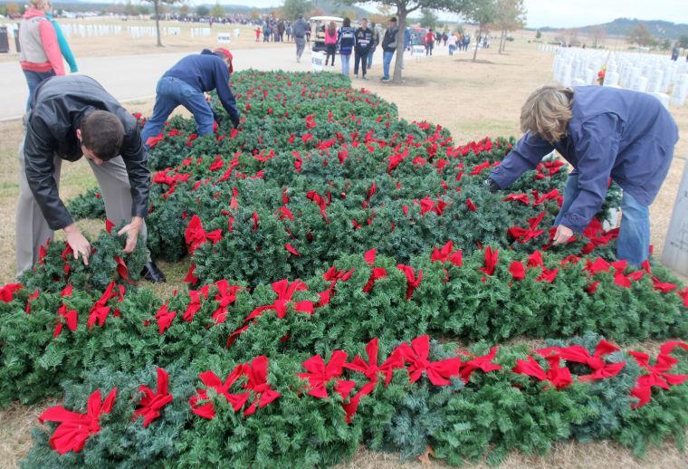 Veterans cemetery wreath-laying 2013