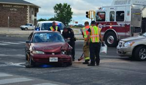 2-vehicle accident reroutes evening traffic