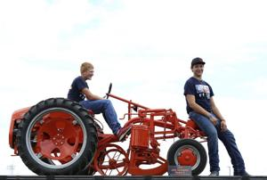 Brothers restore tractor