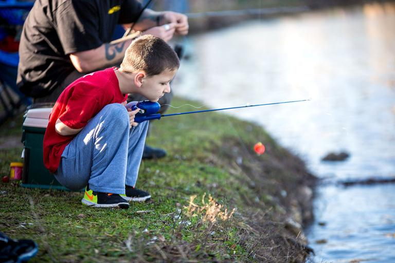 Coveites unite for fishing event at City Park pond