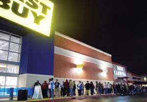 Shoppers camp out, line up to grab the best deals at local stores
