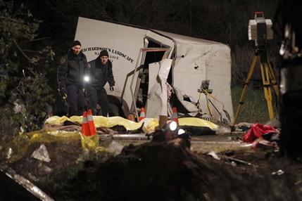 APTOPIX Tour Bus Crash