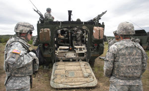 Live Fire Excercise001.jpg: Soldiers from the 3rd Cavalry Regiment take part in a comprehensive live-fire exercise Friday morning at Fort Hood. - Herald/Jaime Villanueva