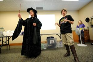 Mandalorian Mercs show off costumes at Heights library