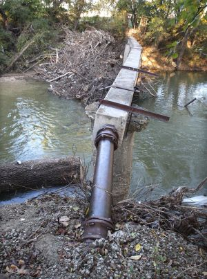Nolan Creek sewer line