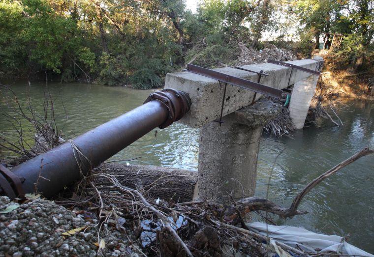 Nolan Creek sewer line